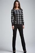 Pantalones de color negro para las mujeres